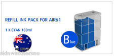 Blue(Cyan) Refill Ink Tank with ink for AIR60,61,62,63 Auto Ink Refill machine
