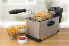 New Deep Fat Fryer 3l Non Stick Oil Chip Fish Kitchen Fry Stainless Steel 2000w