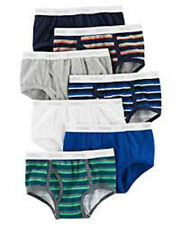 Carter's Big Boys' 7-pack Cotton Briefs (6, White (32712210) / Obsidian/Navy/Gre