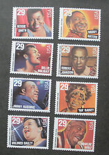 US Postage Stamps Mint NH Scott 2854-2861 JAZZ & BLUES SINGER Full Set of 8