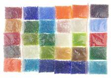 Rocailles Silbereinzug Perlen Set 2mm 3mm 4mm 24 Farben Mix Rainbow DIY AM25