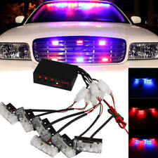 1 Set  6X 3LED Red And Blue Car Dash Flash Flash Emergency Police Warning Lights