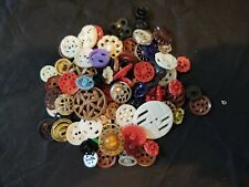 Antique buttons early plastic perforated , nice condition several colors & size