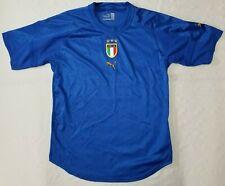 Puma x Neil Barrett Italia soccer shirt/jersey men sz L blue/gold