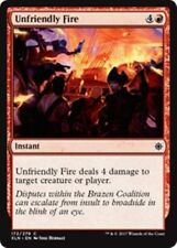 4 x Unfriendly Fire - IXALAN - COMMON  MINT PACK FRESH UNPLAYED