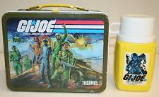 G.I. Joe Vintage Metal Lunchbox 1982 Toys TV Show with Thermos C7+ RARE