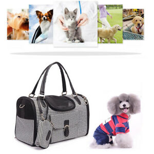 Portable Pet Carrier Stylish Puppy Dog Tote Bag Cage Breathable Travel Handbag