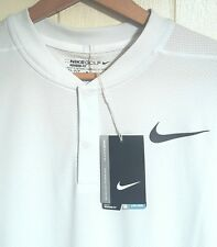 Nike Flyknit Snap Golf Polo Shirt Men Size XL NEW $90.00 Color Platinum