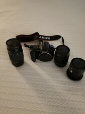 Sony Alpha DSLR-A300 10.2MP Digital SLR Camera with 3 lenses