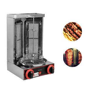 2KW Elektro Dönergrill Dönermaschine BBQ Gyrosmaschine Grill Machine 4 Brenner