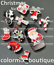 NEW 10pcs Bijoux ongles 3D christmas nail art tip décorations strass #XM_02