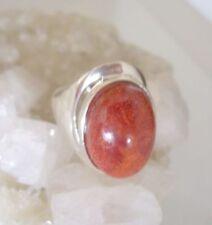 Ring mit Koralle, Schaumkoralle, 925er Silber, Gr. 18,1 - Schaum Koralle -
