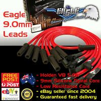 RED EAGLE 9.0mm IGNITION SPARK PLUG LEADS Fits Commodore V8 253 308 VN-VT 88-00