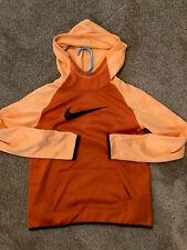 NWT Girls NIKE Therma HOODIE S,L,XL Dri-Fit ORANGE hooded sweatshirt NK96