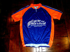 Cycle for Survival Cancer Center Blue & Orange Adult Large Polyester Bike Jersey