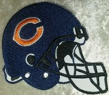 """Chicago Bears Helmet 3.5"""" Iron On Embroidered Patch ~Usa Seller~Free Ship!"""