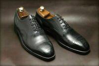Oxford noir Brogue Wingtip Toe Cap Robe formelle Chaussures Classiques