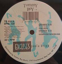 "Paula Brion - Excuses 12"" 33RPM Viny Recrod TB 925 Tommy Boy Records"