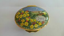 Halcyon Days Enamel Box ~ 'A Year To Remember ~ 2001'