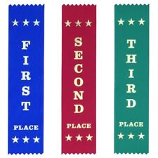 School Pack Small: 200 Each First Second Third Ribbons - Free Post & 5% discount