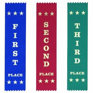 Sports Carnival: 100 Each First Second Third Ribbons - Free Post & 5% discount