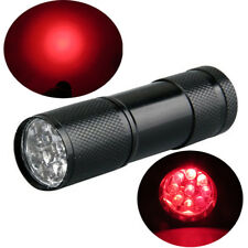 9 LED Red Beam Light Flashlight Torch Astronomy Night Vision Camping Hunting