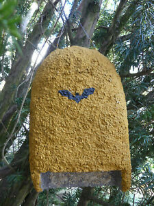 Fledermauskasten gelb Spaltenkasten Fledermausquartier Fledermaushaus Nistkasten