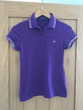 Ladies Fred Perry Purple Polo Shirt Size 10