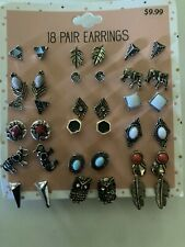 18 pair earrings many different styles and combinations!