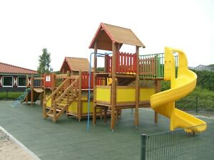 Dflect Rubber Playground Tiles Mats Flooring, UK Stock, Various Sizes & Colours