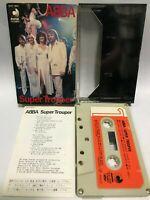 ABBA Japan Cassette Tape Super Trouper DCP-1804 Slip Case Insert Discomate