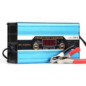 12V 30A Chargeur de Batterie Charge Maintien Automatique pour Voiture Moteur EU