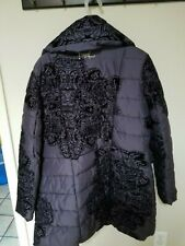 Designual black women winter jacket size 46