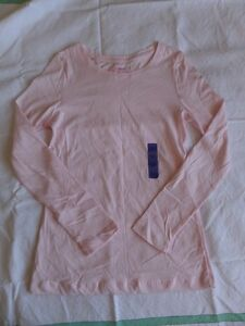 YD Girls Pink Long Sleeve Crew Neck 100% Cotton T-Shirt Size 12-13 Years