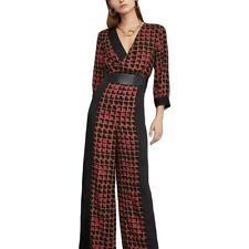 BCBG Max Azria Womens Colorblock Wide Leg Dressy Jumpsuit BHFO 8953