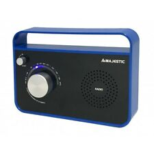 New Majestic Radio Portatile Radiolina FM Analogico Aux IN Blu RT 191AX CBBK