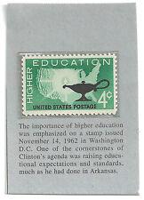 Vintage 4 cent stamp: Higher Education - November 14, 1962, Washington, D.C.