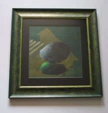 ARVIND PATEL PAINTING SURREALISM ABSTRACT SPACE ROCK ORB STAIRS MODERNISM INDIA