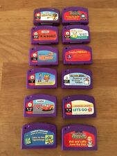 LeapFrog LeapPad 12 Game Cartridges Lot Cars Incredibles Thomas Toy Story Seuss
