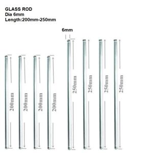"""Glass Stirring Rods 8"""" 10"""" 6mm Diameter for Lab,Kitchen,Science Education 8/Pack"""