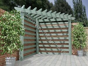 Woodwork Plans for Garden Corner Pergola 2.3mx2.3m DIY (Plans Only by Email)