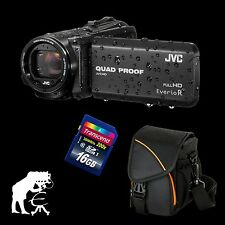 JVC GZ-R415BEU Everio R, wasserdichter Full HD Camcorder + 16 GB + Action Black