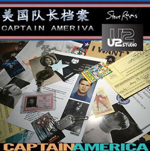 Marvel les Vengeurs Captain America Papier Document Dossier Collection N P1