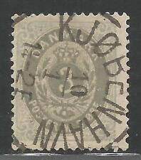 Denmark Stamp Scott #25 from Quality Old Album 1875