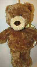 Carters Classics baby plush musical crib hanging toy brown teddy bear yellow bow