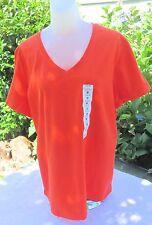 NEW Great Northwest  V Neck Dark Orange T SHIRT  Size 1X
