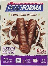 Pesoforma Barrette Cioccolato al Latte Pasti Sostitutivi Dimagranti, 12 x 31g