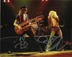 Jimmy Page & Robert Plant Autographed Led Zeppelin 8 x 10 Photo With COA