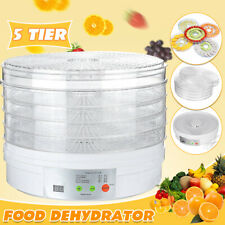 5 Tier Electric Food Dehydrator Machine Fruit Dryer Beef Jerky Herbs Kitchen