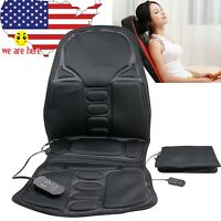 Car Seat Massager Cushion For Driver Back Heat Pad Chair Home Pain Relief Lumbar